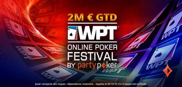 2 000 000 € garantis sur le WPT® Online Poker Festival